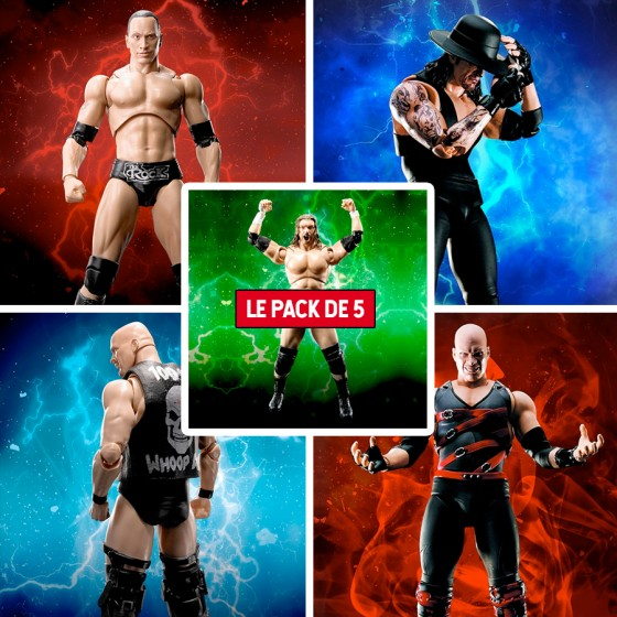 Pack X 5 Figurines W.W.E. -...