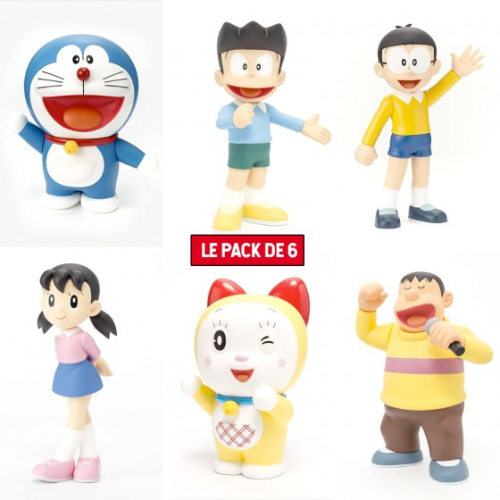 Pack X 6 Figurines Doraemon...