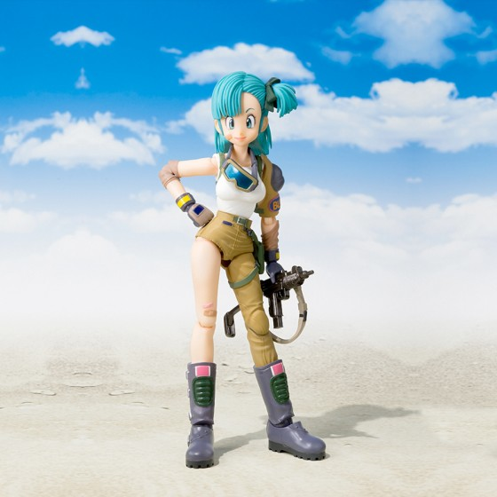 Pack Figurine + Accessoire Dragon Ball : Bulma + Tamashii Stage